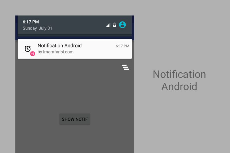 Membuat Notification Android Channel Id Imam Farisi